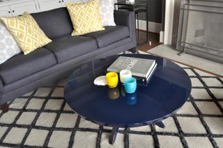 现代简约风格厨房复式公寓舒适三人沙发图片