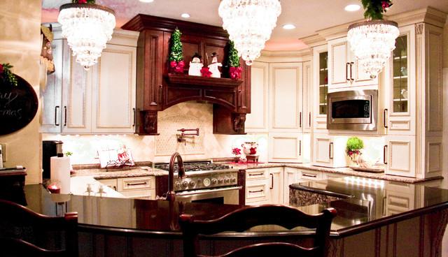 欧式别墅及欧式豪华小户型开放式厨房装修高清图片