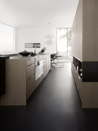 客厅简洁灰色窗帘开放式厨房客厅办公室过道设计图纸
