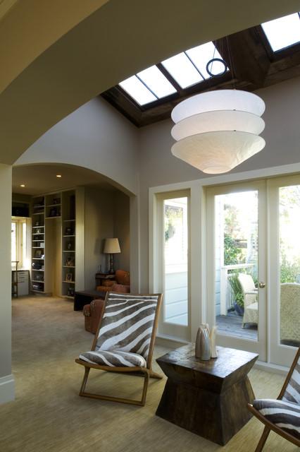 大户型现代简洁客厅吸顶灯效果图