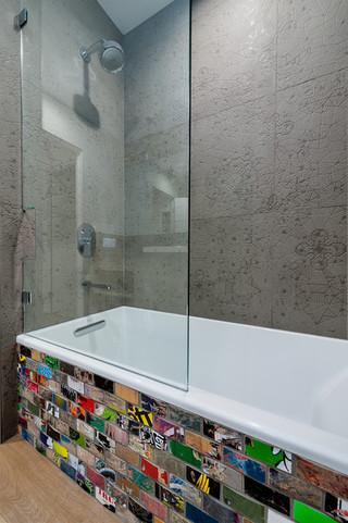 小公寓时尚卧室装饰嵌入式浴缸效果图