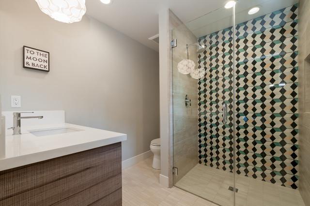 单身公寓厨房时尚室内淋浴房配件安装图