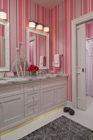 复式公寓小清新粉色卧室家装鞋柜效果图