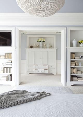 单身公寓设计图唯美白色家居雷士吸顶灯效果图
