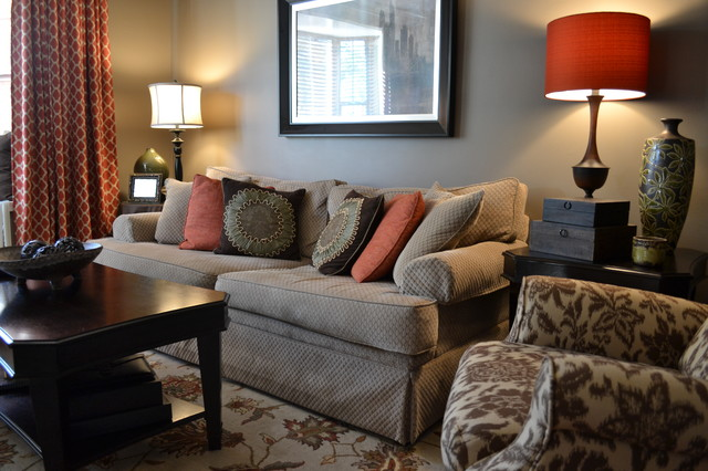 美式风格三层半别墅低调奢华布艺沙发图片