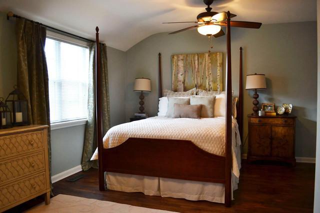 现代美式风格三层别墅奢华4平米卧室设计图图片