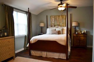 现代美式风格三层别墅奢华4平米卧室设计图