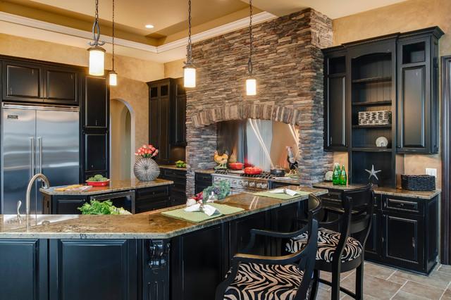 欧式奢华富裕型欧式开放式厨房吧台椅效果图高清图片