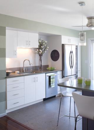 清新系列厨房装修 白领家庭的最爱