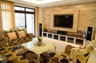 新古典风格奢华豪华型电视背景墙效果图