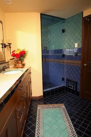 东南亚风格家具一层别墅及艺术家具卫浴间瓷砖装修图片