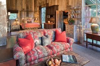 宜家风格客厅三层独栋别墅舒适实木沙发客厅图片