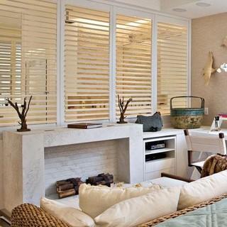 现代简约风格客厅唯美富裕型玻璃隔断装修效果图