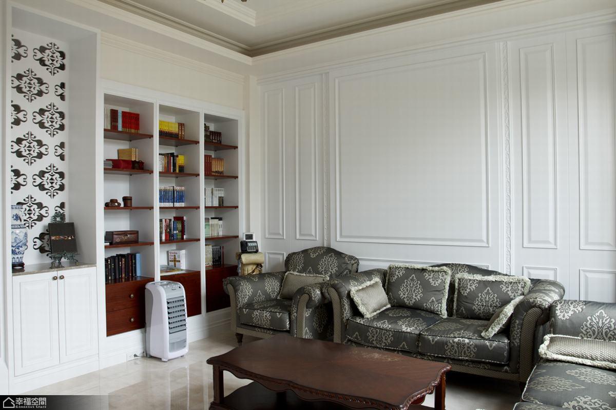美式风格别墅温馨沙发背景墙效果图