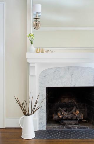 现代简约风格客厅复式大厅小清新白色室内装修图片