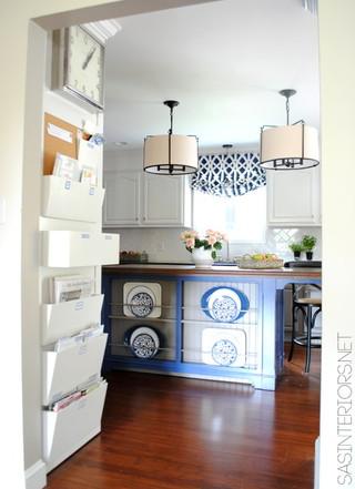 地中海风格三层独栋别墅艺术厨房收纳架图片