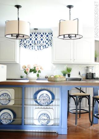 地中海风格三层小别墅艺术蓝色厨房装修效果图