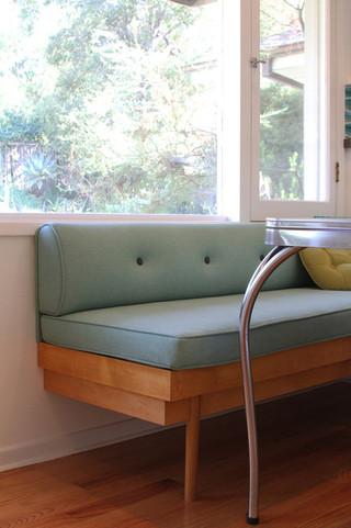 现代简约风格客厅艺术家具豪华型单人沙发床图片