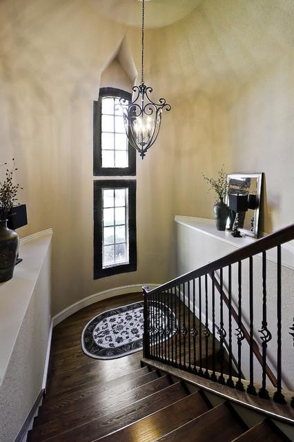 现代简约风格卧室3层别墅浪漫卧室复式楼楼梯设计图