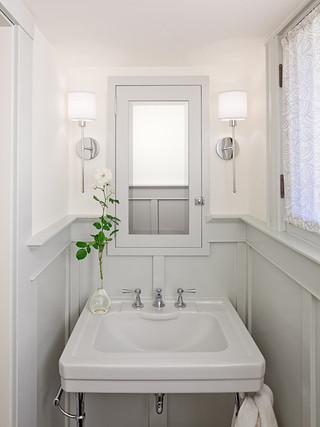 现代简约风格卫生间一层别墅小清新白色地毯装修图片