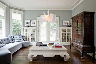 现代简约风格三层半别墅小清新名牌布艺沙发效果图