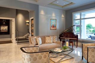 混搭风格三层连体别墅豪华欧式客厅新款布艺沙发效果图