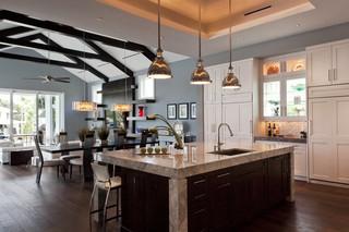 混搭风格一层半别墅豪华2012家装厨房设计图
