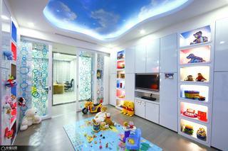 混搭风格大气100平米儿童房设计图