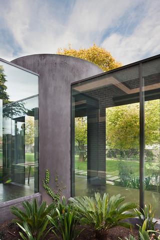 现代简约风格厨房小户型公寓浪漫卧室艺术玻璃背景墙效果图