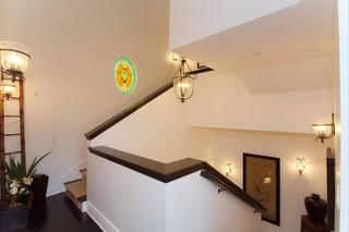 混搭风格客厅40平米温馨装饰别墅楼梯设计图装修效果图