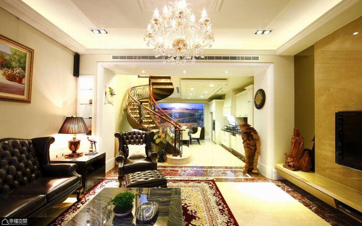 欧式风格欧式别墅豪华客厅装修