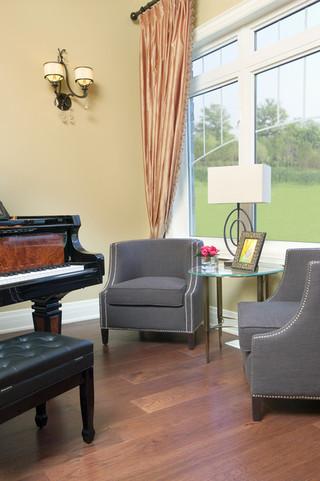 现代简约风格餐厅酒店公寓浪漫卧室三人沙发图片