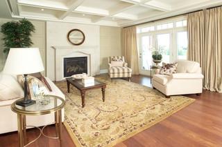 现代简约风格客厅酒店式公寓浪漫婚房布置地毯图片
