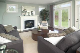 现代简约风格厨房小型公寓浪漫婚房布置单人沙发效果图