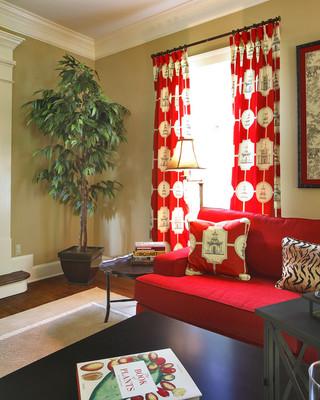 红色舒适温馨的家