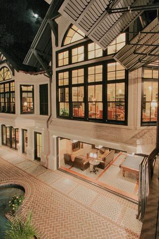 宜家风格客厅三层连体别墅豪华玻璃隔断装修效果图