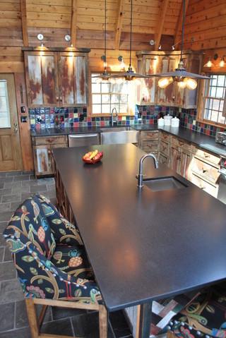 中式风格客厅50平米复式稳重快餐桌图片