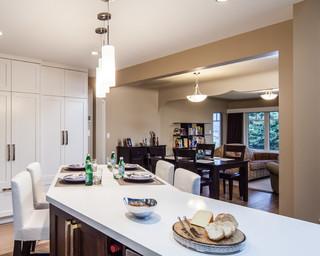 现代简约风格客厅复式二楼温馨卧室大理石餐桌图片