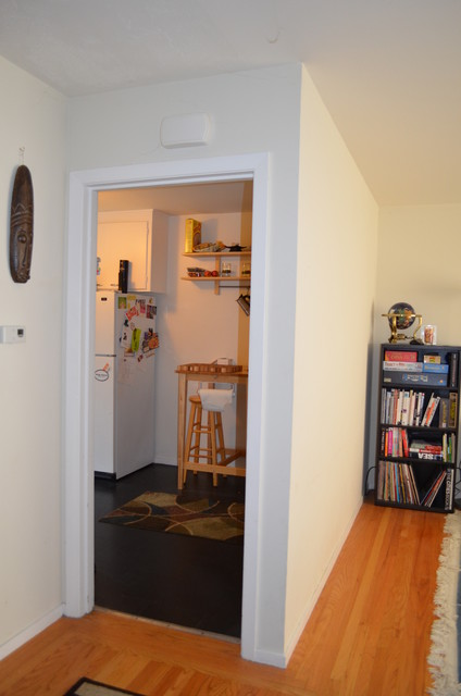 现代简约风格厨房单身公寓小清新卧室书桌效果图