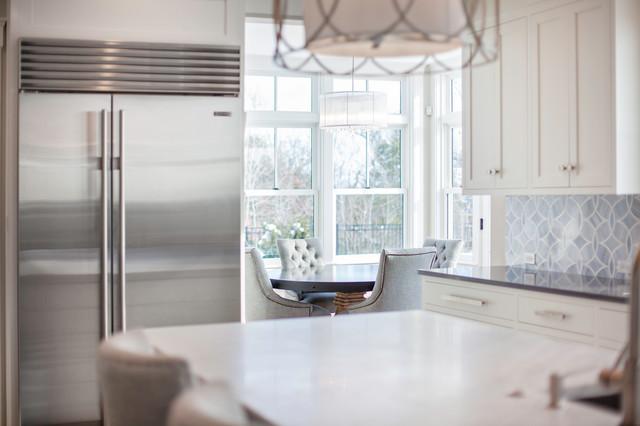 现代简约风格厨房复式客厅吊顶简洁品牌小家电效果图