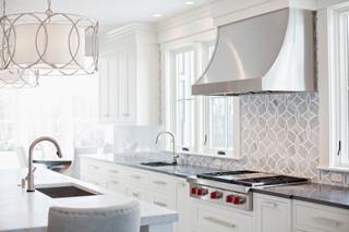 现代简约风格厨房50平复式现代简洁大理石餐桌图片