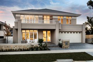 地中海风格一层别墅及温馨客厅大理石背景墙布艺沙发床图片