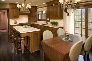 中式风格客厅复式室内稳重家用餐桌效果图