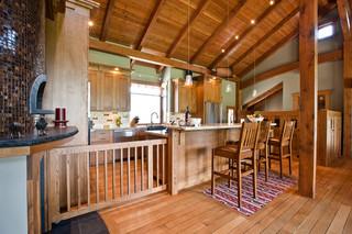 现代中式风格复式室内稳重快餐桌图片