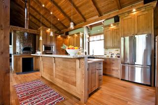 简约中式风格复式卧室稳重家庭餐桌图片
