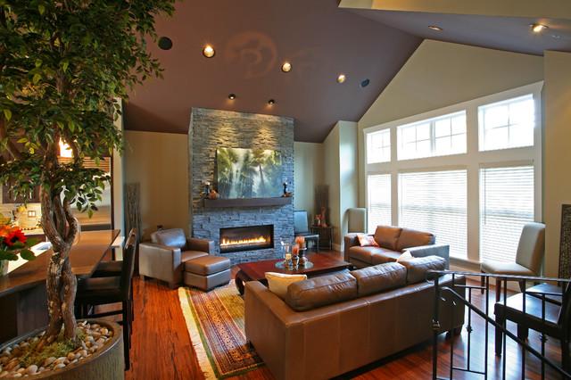 现代简约风格餐厅一层别墅及大气电视柜背景墙效果图