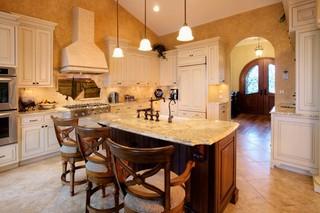 现代中式风格三层小别墅稳重实木餐桌效果图
