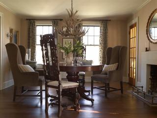 现代简约风格卫生间浪漫婚房布置经济型圆形餐桌效果图