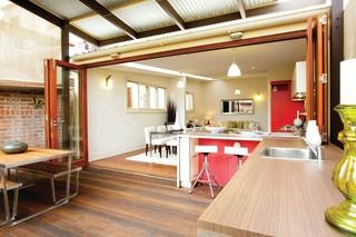 现代简约风格浪漫婚房布置富裕型2014整体厨房装修效果图