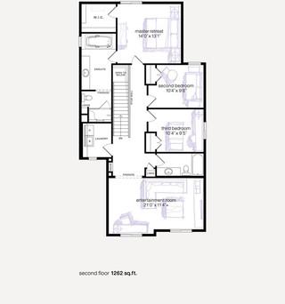 混搭风格客厅小清新经济型设计图纸